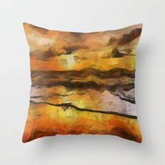 Abstract Geometric Sunset Throw Pillow