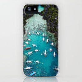 Island hopping in the Philippines iPhone Case