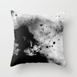 War - Abstract Black And White Throw Pillow