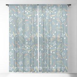 wattle flower Sheer Curtain
