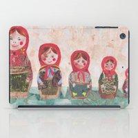 emma stone iPad Cases featuring Emma by GiGi Garcia Collages