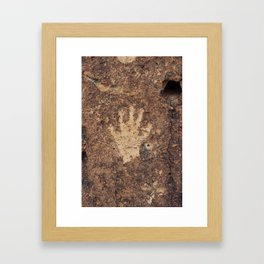 The Ancient Handshake Framed Art Print