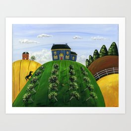 Hilly Heartland Art Print