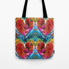 Colorful Heart Art - Everlasting - By Sharon Cummings Tote Bag