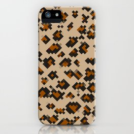 Pixelated Leopard iPhone Case