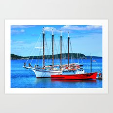 Maine Life Art Print