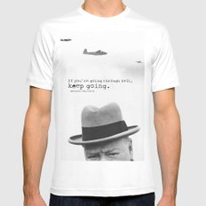 Churchill SMALL White Mens Fitted Tee