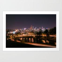 Kansas City at Night II Art Print