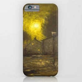 By the Light of a Yellow Moon, Cityscape by George Inness iPhone Case