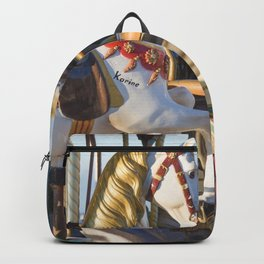 Wooden horse riding Backpack