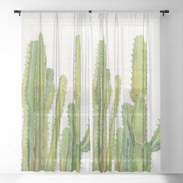 Cactus 2 Sheer Curtain
