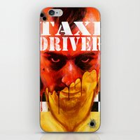 taxi driver iPhone & iPod Skins featuring Taxi Driver by ChrisNygaard