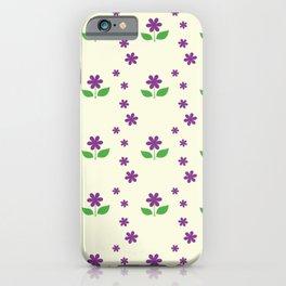 sweet happy violet flower seamless pattern iPhone Case