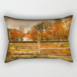 Autumn Colors in the Swamp Rectangular Pillow