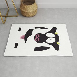 Cow in Cartoon Stlye Rug