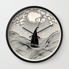 IN THE WAVES OF CHANGE WE FIND OUR TRUE DIRECTION Wall Clock