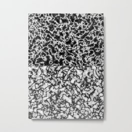 Black and white marble texture 2 Metal Print