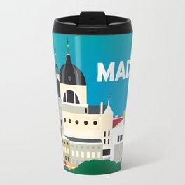 Madrid, Spain - Skyline Illustration by Loose Petals Travel Mug