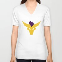 lunar V-neck T-shirts featuring Lunar by Tollero