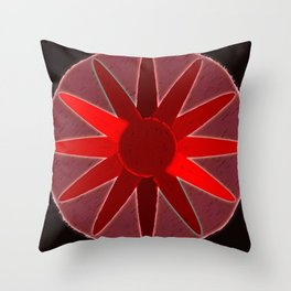 flow of red Throw Pillow