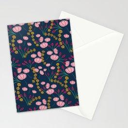 Dark blue pinky pattern Stationery Cards