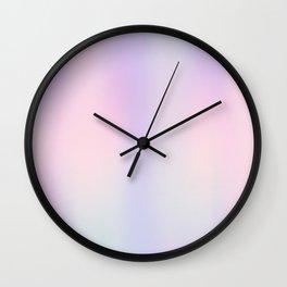 Pastel Gradient rainbow Wall Clock