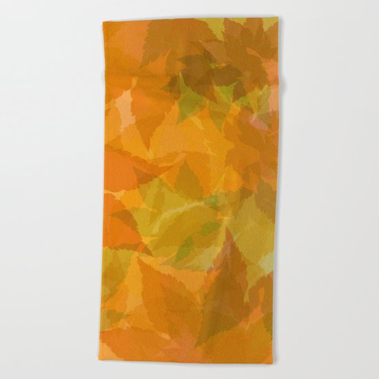Autumn leaves pastel Beach Towel