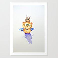 I am Teddy-bat! Art Print