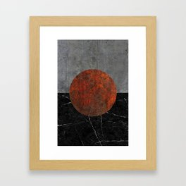 Abstract - Marble, Concrete, and Rusted Iron II Framed Art Print