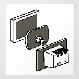 Computer catode monitor Art Print