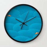 sleep Wall Clocks featuring sleep by alessandro di sessa
