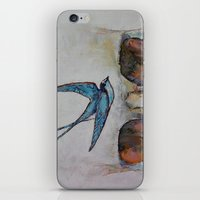 sparrow iPhone & iPod Skins featuring Sparrow by Michael Creese
