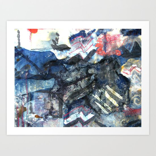 Aftermath of the squares Art Print