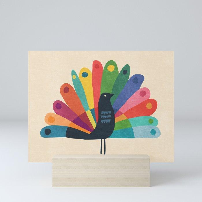 Whimsical Peacok Mini Art Print