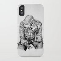 tom selleck iPhone & iPod Cases featuring tom by Anna Gibson