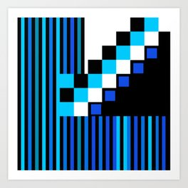Playing with Colors | Shapes | Black and White | I Feel Blue Art Print