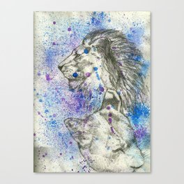 Lion & Lioness  Canvas Print