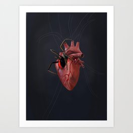 The Heart of a Loner Art Print