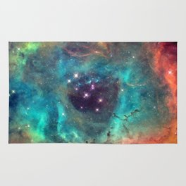 Colorful Nebula Galaxy Rug