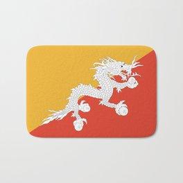 Bhutanese flag Patriotic Bhutan Flag Bath Mat