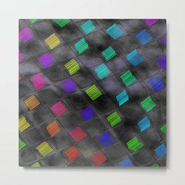 Square Color Metal Print