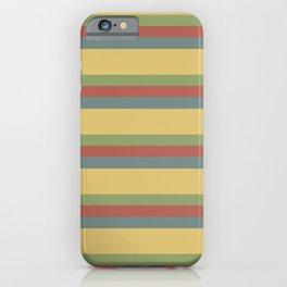 colorful autumn pattern horizontal stripes iPhone Case