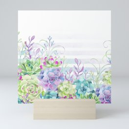 Summer Succulents Mini Art Print