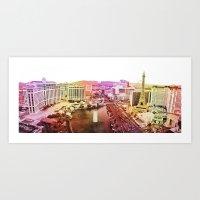 las vegas Art Prints featuring Las Vegas by EmilyBest