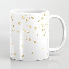 Falling hearts gold glitter confetti - Heart Love Valentine Coffee Mug