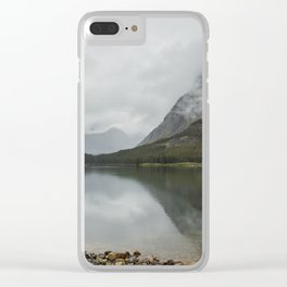 Reflection of Mountains - Glacier NP Clear iPhone Case