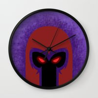 magneto Wall Clocks featuring Magneto by Sprite