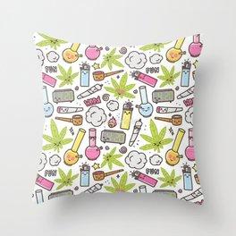 Weed Mania Throw Pillow