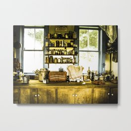 Vintage Farmhouse Kitchen Metal Print