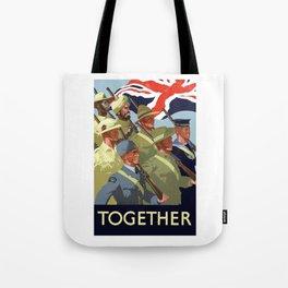 Together -- British Empire WW2 Tote Bag